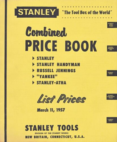 Stanley Combined Price Catalog 1957