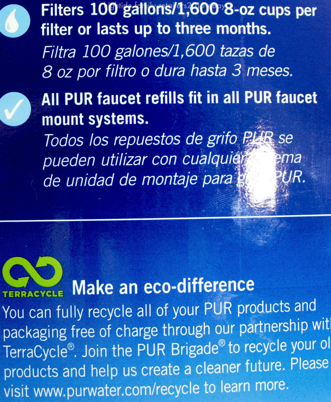 PUR Advanced Faucet Mount 3-Stage MineralClear 1 2 6 7 Water Filters ...