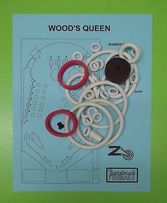Zaccaria Wood's Queen pinball rubber ring kit for sale  Shipping to Canada