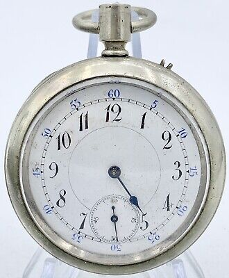 Vintage 17s High Grade Swiss Longines Key Wind Pocket Watch Original Case