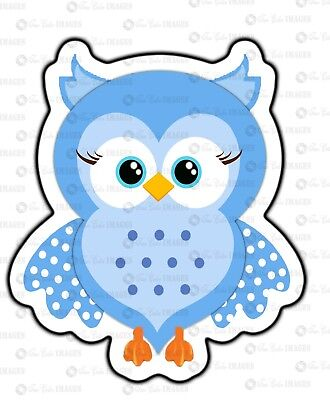 Owl Prints for baby shower or any event decoration -blue 12 pcs - Blue Owl Baby Shower Decorations