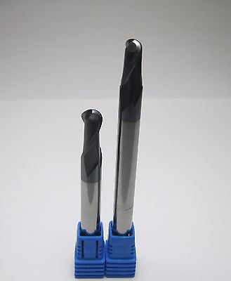 8mm R4.0 Hrc45 L 75mm 100mm Long Shank Carbide Ball Nose End Mills Milling