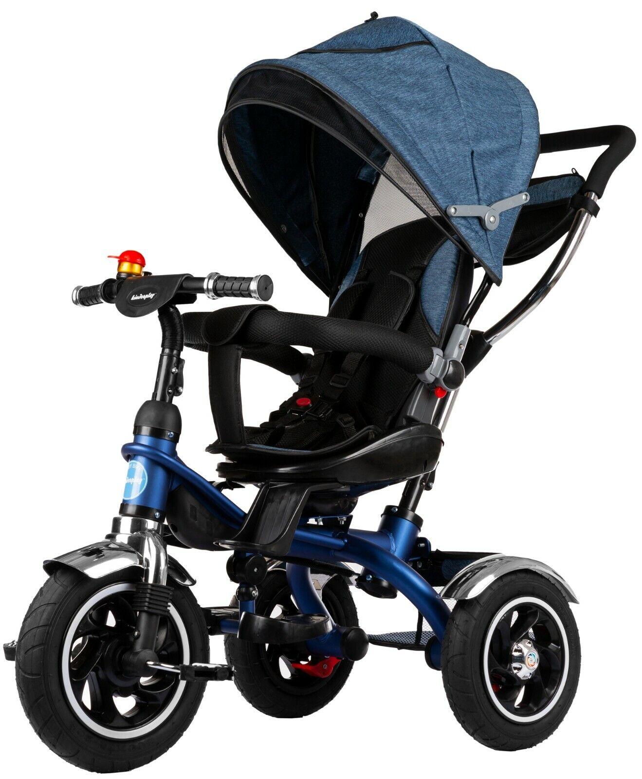 Dreirad Kinderdreirad Kinder Lenkstange Fahrrad KP0565DBL Baby Kinderwagen Neu