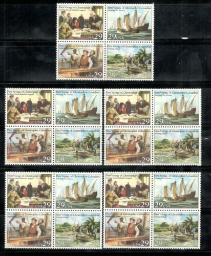 2620-23 Voyages Of Columbus Wholesale Lot Of 5 Blocks Mint/nh Selling Below Face