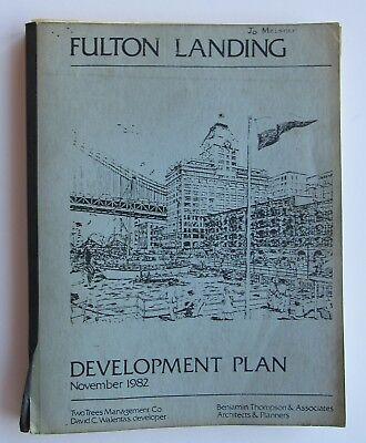 Rare Fulton Landing Development Plan Nov 1982 Benjamin Thomson & Assoc. Archhit.