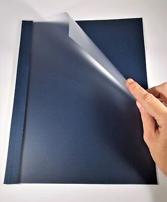 3mm 18 10-28pgs Thermobind Navy Blue Linen Thermal Binding Covers - 100pcs