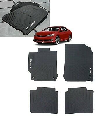 2012-2014 Camry Floor Mats ( ALL WEATHER ) 4PC Set Genuine Toyota