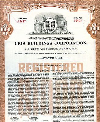 Uris Buildings Corporation 1960