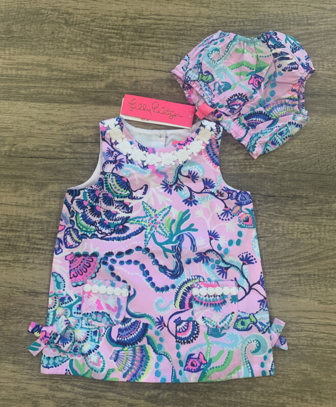NWT Lilly Pulitzer Baby Lilly Shift Mermaid For You  Sz 18-24 Months Free Ship