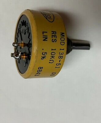 Spectrol Vishay 10k Ohm 2 Watt Linear Taper Potentiometer B10k Pot Mod 138-51