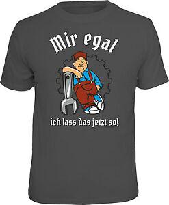 Divertente-Maglietta-ARTIGIANO-MIR-Egal-ICH-LASS-IL-ORA-COSI-REGALO-stampato