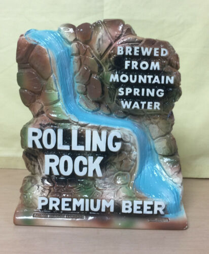 ROLLING ROCK PREMIUM BEER WATERFALL ADVERTISING SIGN