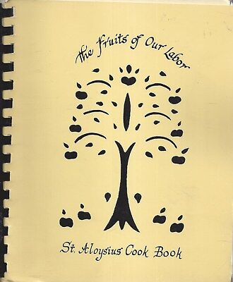 For sale * OAKLYN NJ 1988 ST ALOYSIUS CATHOLIC CHURCH COOK BOOK * THE FRUITS OF OUR LABOR