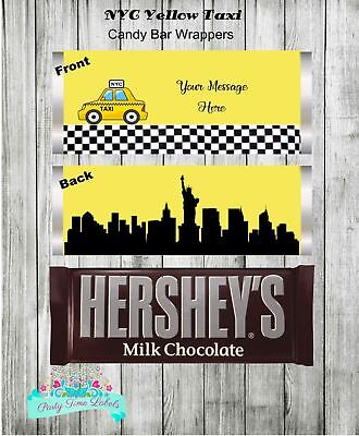 Party City Favors (New York City Yellow Taxi Birthday Party Favors Personalized Candy)