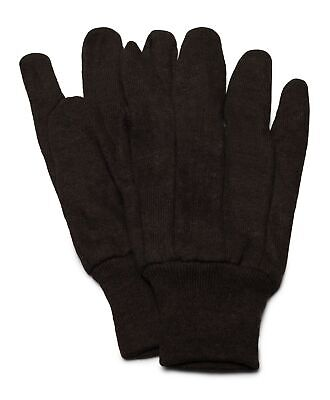 Brown Jersey Work Gloves Industrial Grade Size Mens 24 Pairs - 2 Dozen