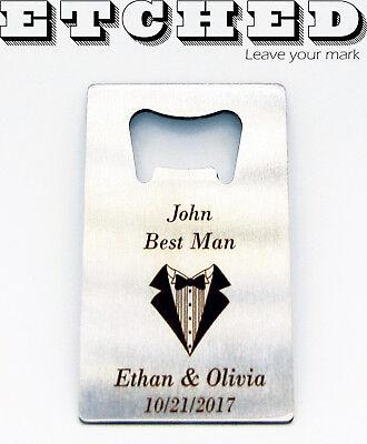 Personalized bottle opener - Engraved bottle opener - Credit card bottle opener - Personalized Credit Card Bottle Opener