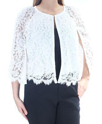 ALFANI $100 Womens New 1164 Ivory Lace Cape Style Casual Jacket L B+B