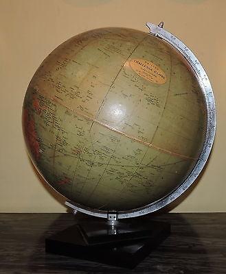 Mappamondo antico vintage Philips' Challenge Globe Ø 13,5 inch - 34 cm   1950
