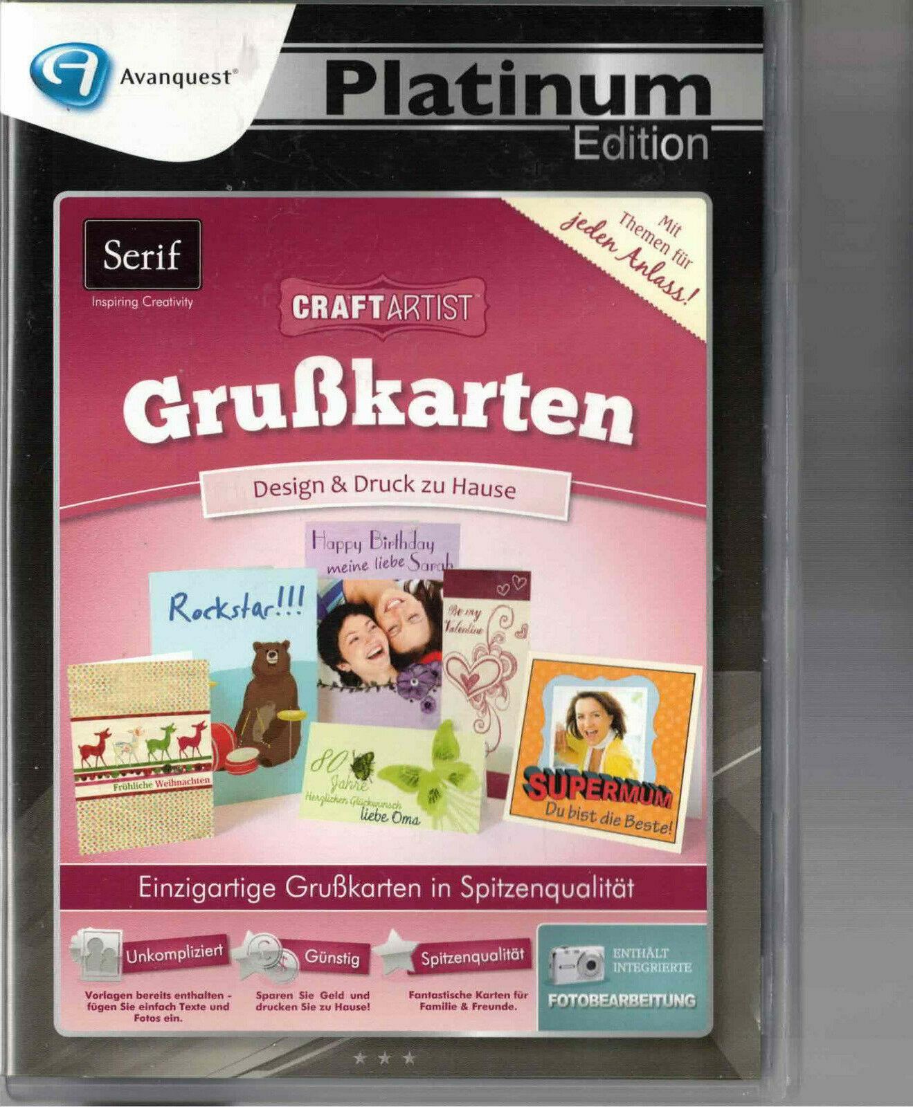 Grußkarten Druckerei, Platinum edition