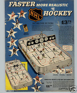 1960-PAPER-AD-3-PG-NHL-Hockey-Game-Maple-Leafs-Canadiens-Playmaker-Family-Games