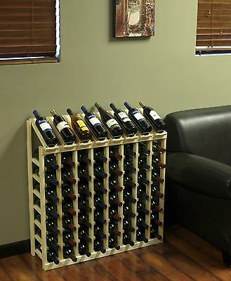 64 Bottle Display View Wine Rack Kit in Ponderosa Pine. Hand Crafted in the USA.