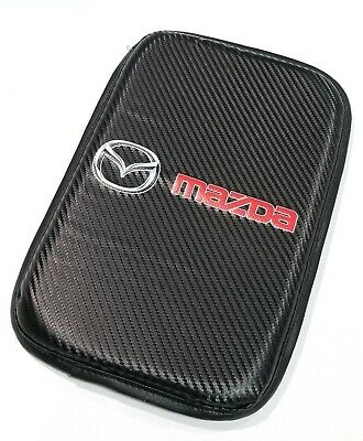 Used, 1PCS For JDM MAZDA Carbon Car Center Console Armrest Cushion Mat Pad Cover for sale  Hacienda Heights