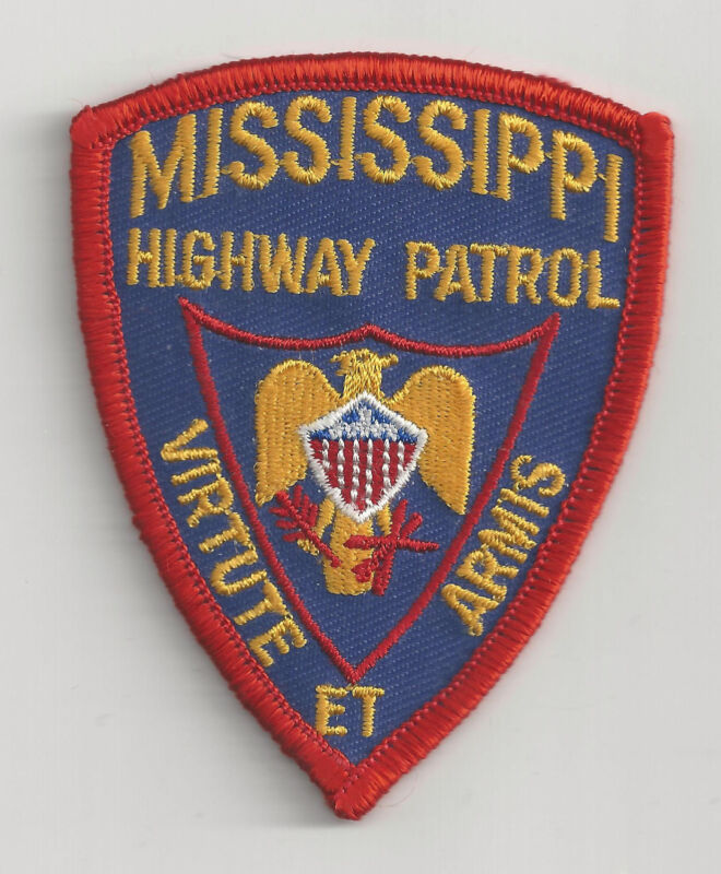 MISSISSIPPI HIGHWAY PATROL - SMALL SHOULDER PATCH - IRON OR SEW-ON PATCH