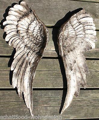 2er Set XXL Wanddeko Engelsflügel Wings Wandskulptur Flügel Wandschmuck gold