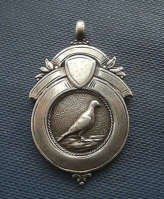 Vintage Serling Silver Fob Medal  - Racing Pigeon h/m 1958 Silverdale Newcastle