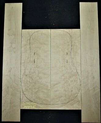 Guitar Luthier Tonewood BIRDSEYE MAPLE Acoustic backs sides SET back side