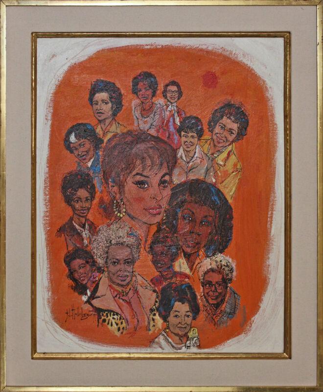 Listed African American Artist Alvin Carl Hollingsworth, Original Painting