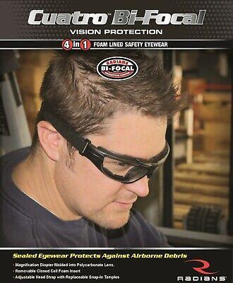 Radians Cuatro 4 En 1 Bifocales Transparentes Anti Fog Gafas De Seguridad