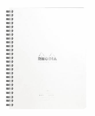 Rhodia Wiredbound - Notebook - Ice - Lined - Meeting Book - A5 - 6.5 X 8.25 New