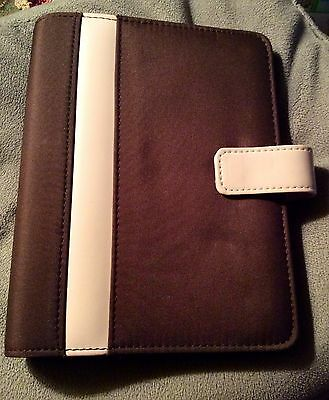 Franklin Covey Compact 365 Brown Pink 6 - 1 Inch Ring Binder Planner Organizer