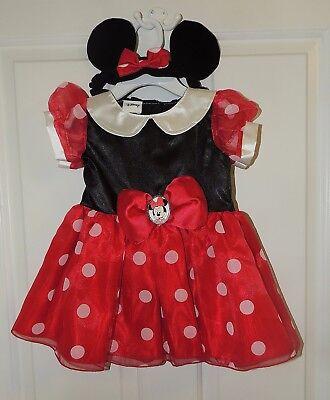 Neu Disney Baby Mädchen Minnie Maus Kostüm Größe 6-9 & 12-18 Monate