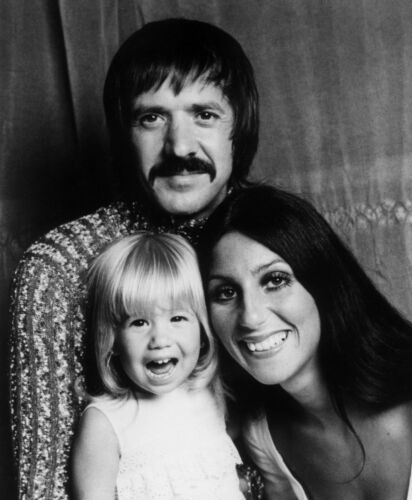 SONNY AND CHER - MUSIC PHOTO #E-13 - WITH CHASTITY(CHAZ BONO)