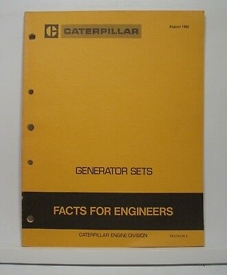 Caterpillar Generator Set Facts for Engineers  3304 3306 3406 3408 3412 D348-399