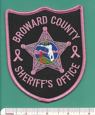 Broward Sheriff FL State Florida Fla PINK Police Patch - Breast Cancer Awareness