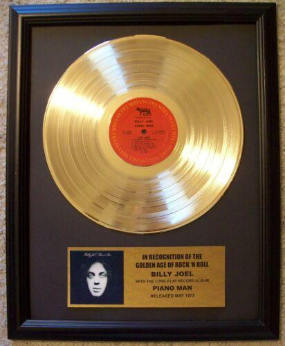 Billy Joel PIANO MAN Gold LP Record + Mini Album Disc Not a Award in Frame