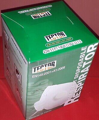 12 x Atemschutzmaske FFP3 mit Ventil von TECTOR® Labor Viren P3 NEU OVP PSA CE