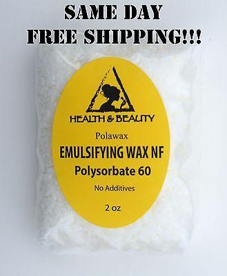 EMULSIFYING WAX NF POLYSORBATE 60 PURE POLAWAX 2 OZ