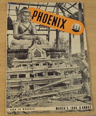 "1945 WWII 'Southeast Asia Command' ALLIED FORCES Magazine~""PHOENIX""~Girls/Comics"
