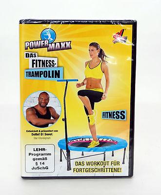 POWER MAXX Fitness Trampolin Training DVD Fitness TVdoo Detlef D! Soost Gelb