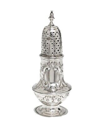 20th-Century. Large Vintage Solid Sterling Silver /& Cut Glass English Sugar Caster Pepper Pot Muffineer Bottle Top Lid Shaker Container