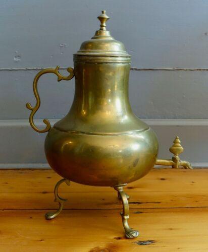 Dutch Brass Hot Water Kettle, Circa 1820