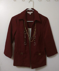 Maroon Jacket (Outerwear)