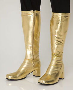 Gold Knee High Boots & Platform Boots - 60s 70s Fashion ...