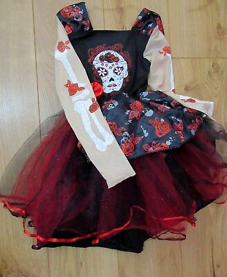 £35 halloween girls age 9 - 10 costume Skeleton Fancy Dress princess zombie dead](Skeleton Princess Halloween Costume)