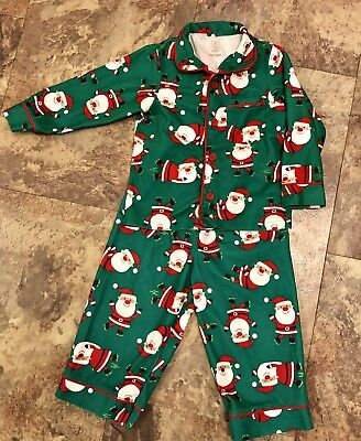 Toddler Christmas Pajamas Boutique (Boutique Christmas Santa Pajamas Toddler Boys Size 2T -Good Condition & So)