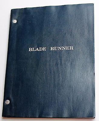 BLADE RUNNER * 1980 Original Movie Script * Harrison Ford Film, Water Stained